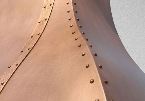 Materials And Finish Options Copper Patina Zinc Patina