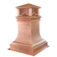 Craftsman Copper Chimney Pot